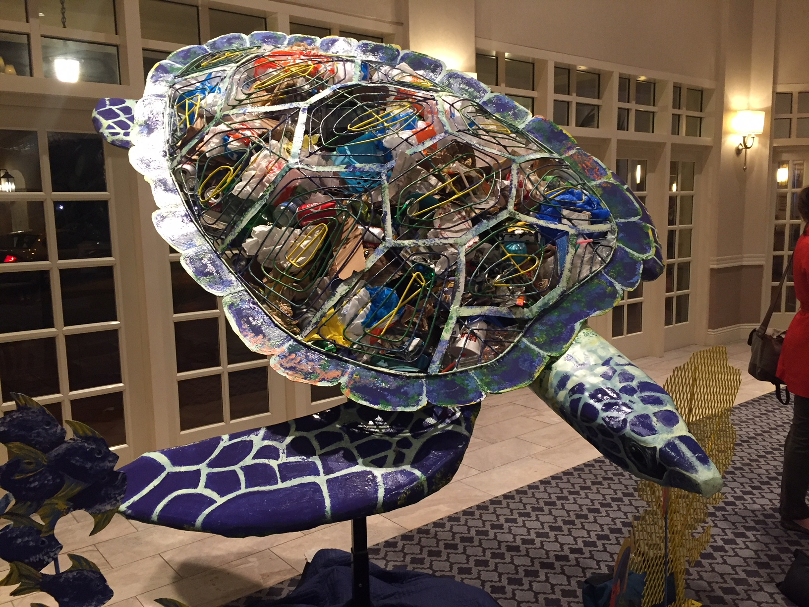 Sea Turtle, 2018  International Marine Debris Conference, San Diego, CA  Commissioned by NOAA and the United Nations