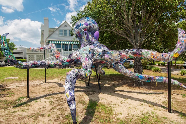 Octopus, 2019  Franklin G. Burroughs - Simeon B. Chapin Art Museum, Myrtle Beach, SC  Sponsored by Horry County Solid Waste Authority