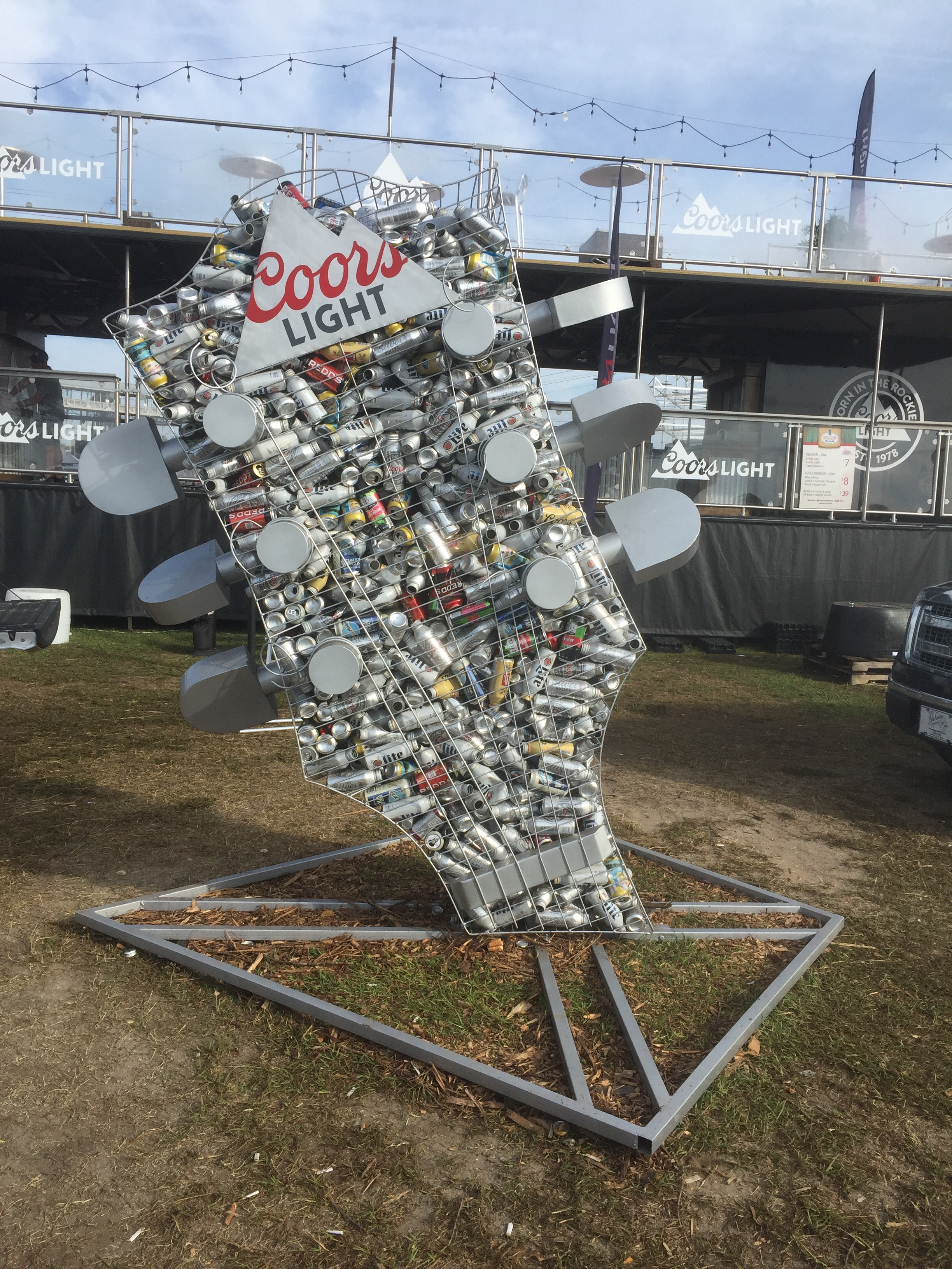 Guitar, 2017  Carolina Country Music Festival, Myrtle Beach, SC  Commissioned by Coors Brewing