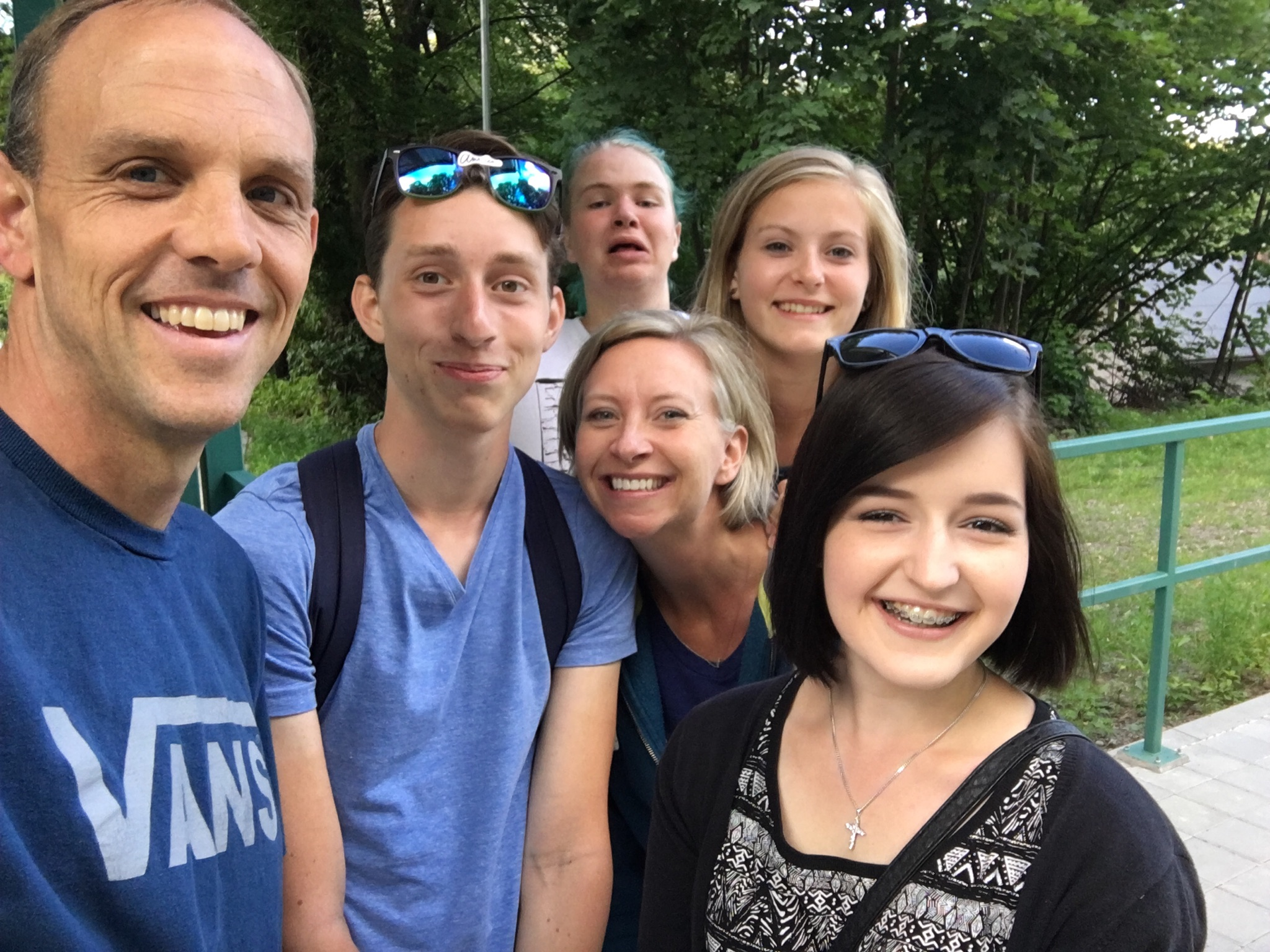A few of the students had to leave a few days early so we walked them to the train station.