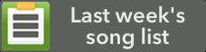 Last Week's Worship Songs