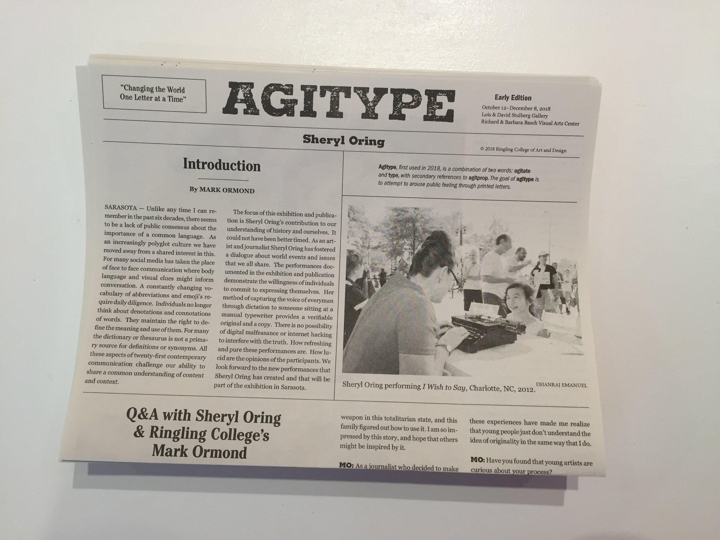 Agitype newspaper