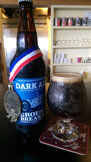 Dark Ale, winner of the Gold Medal in the Gluten-Free Beer Category at the 2016 Great American Beer Festival -