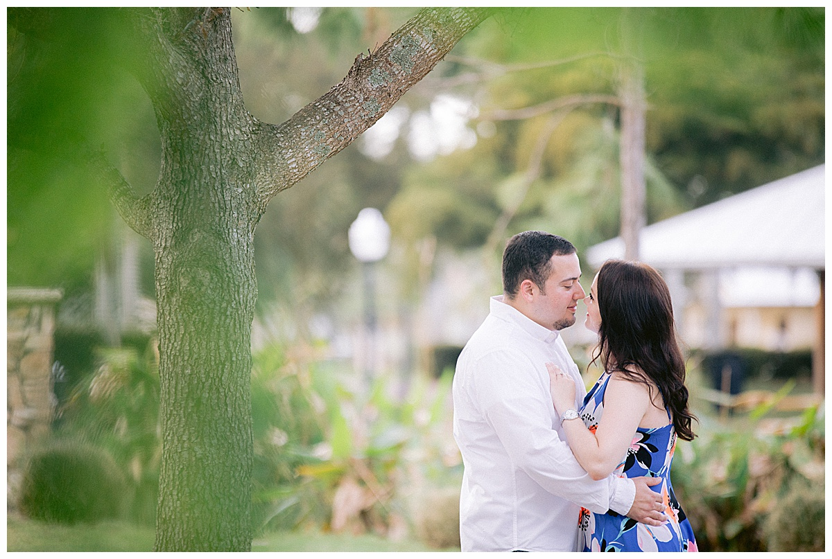Engagement photos in Memorial Park Stuart, FL