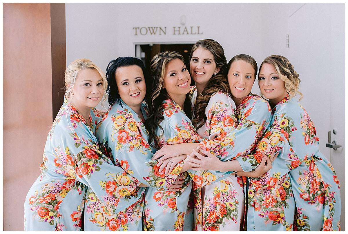 Tradition Town Hall wedding girls in floral robes