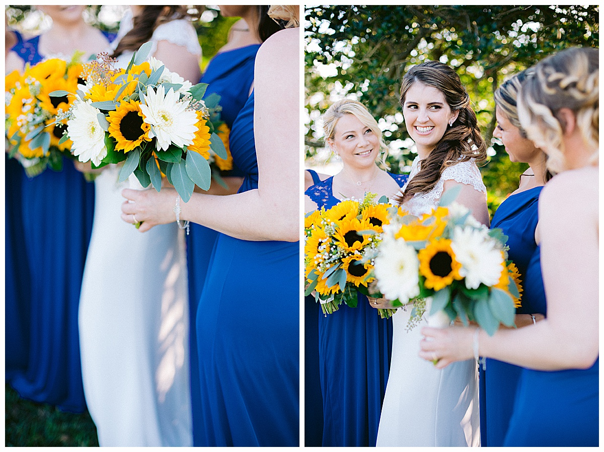 Harbour Bay Florist Bridesmaids with sunflowers