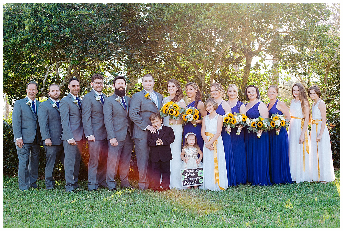 Bridal Party photo at Tradition Town Hall