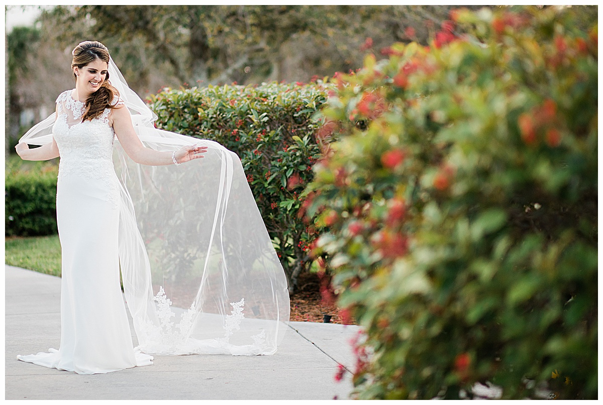 Cathedral length veil at Tradition Town Hall