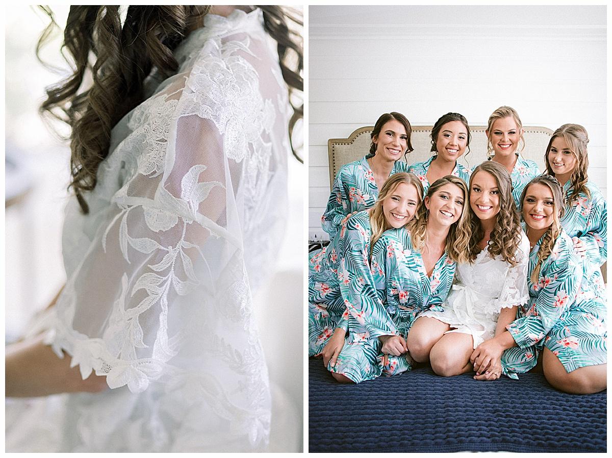 Colorful bridesmaid robes   Hutchinson Shores Resort and Spa