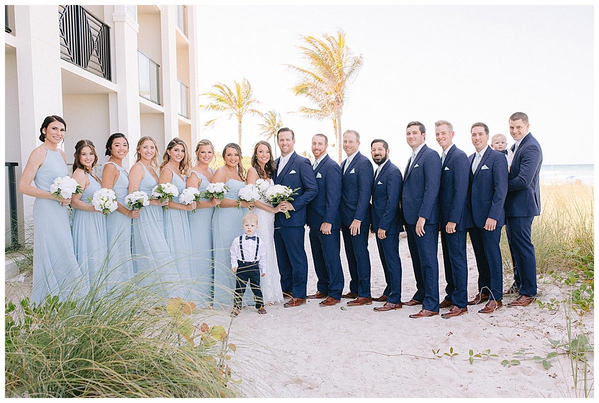 Bridal party photos at Hutchinson Shores Resort and Spa