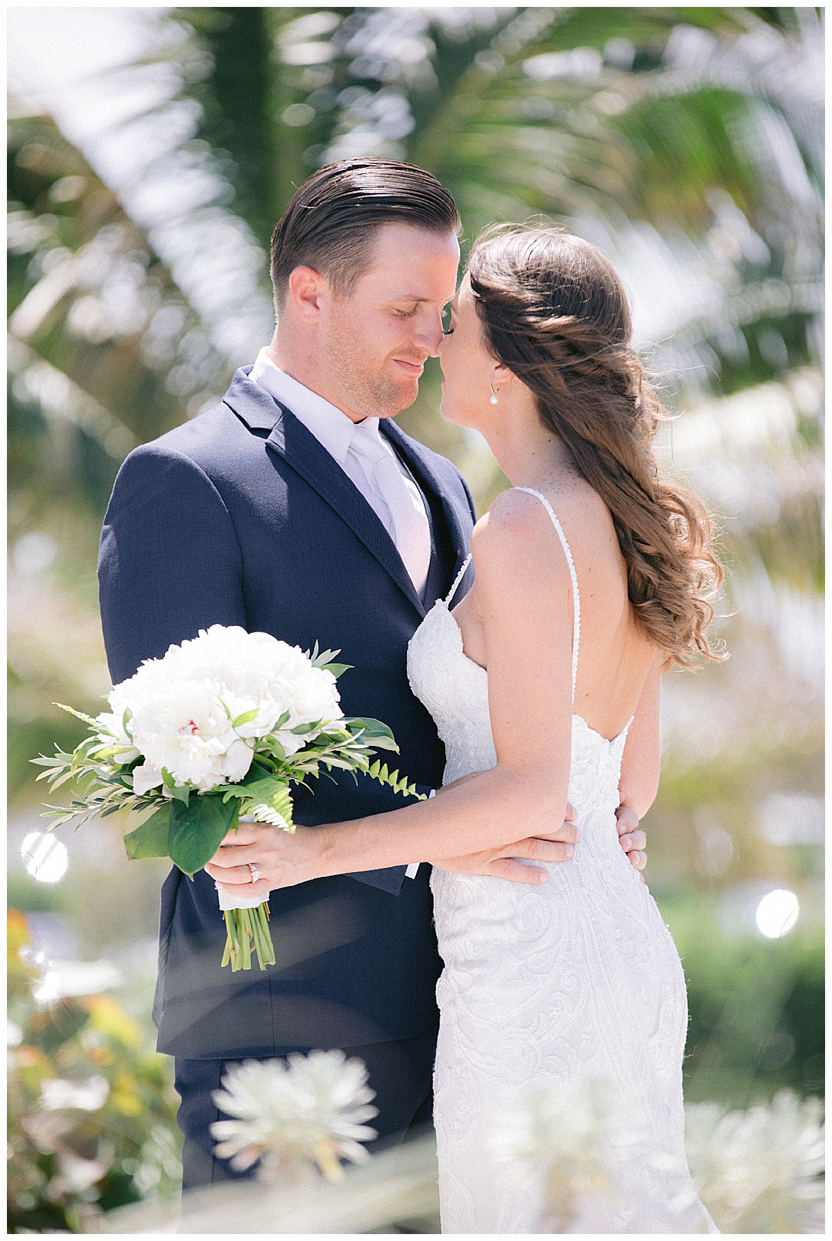 Bride and groom portraits at Hutchinson Shores Resort and Spa