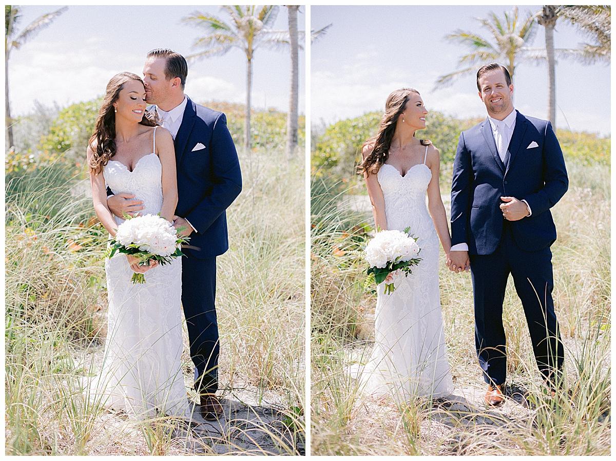 bride and groom at Hutchinson Shores Resort and Spa