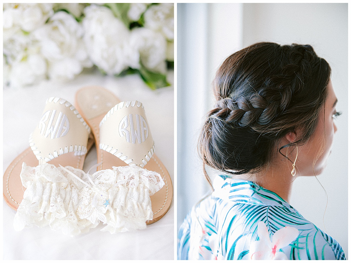 Hutchinson Shores Resort and Spa Wedding bridesmaid updo