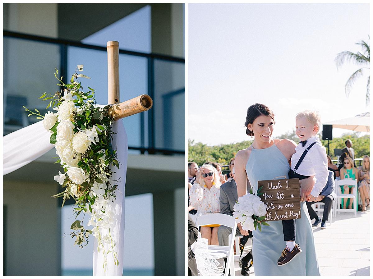 Beach wedding at Hutchinson Shores Resort and Spa