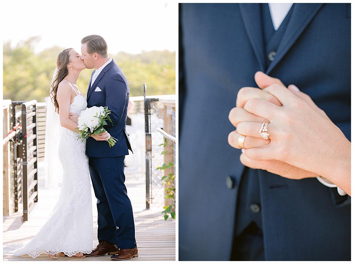 Beach wedding dress at Hutchinson Shores Resort and Spa