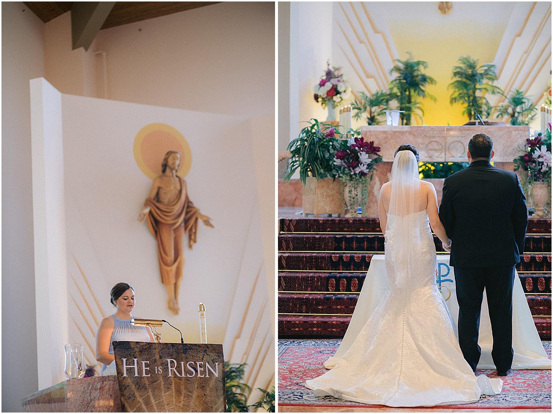 catholic wedding at holy redeemer church palm city