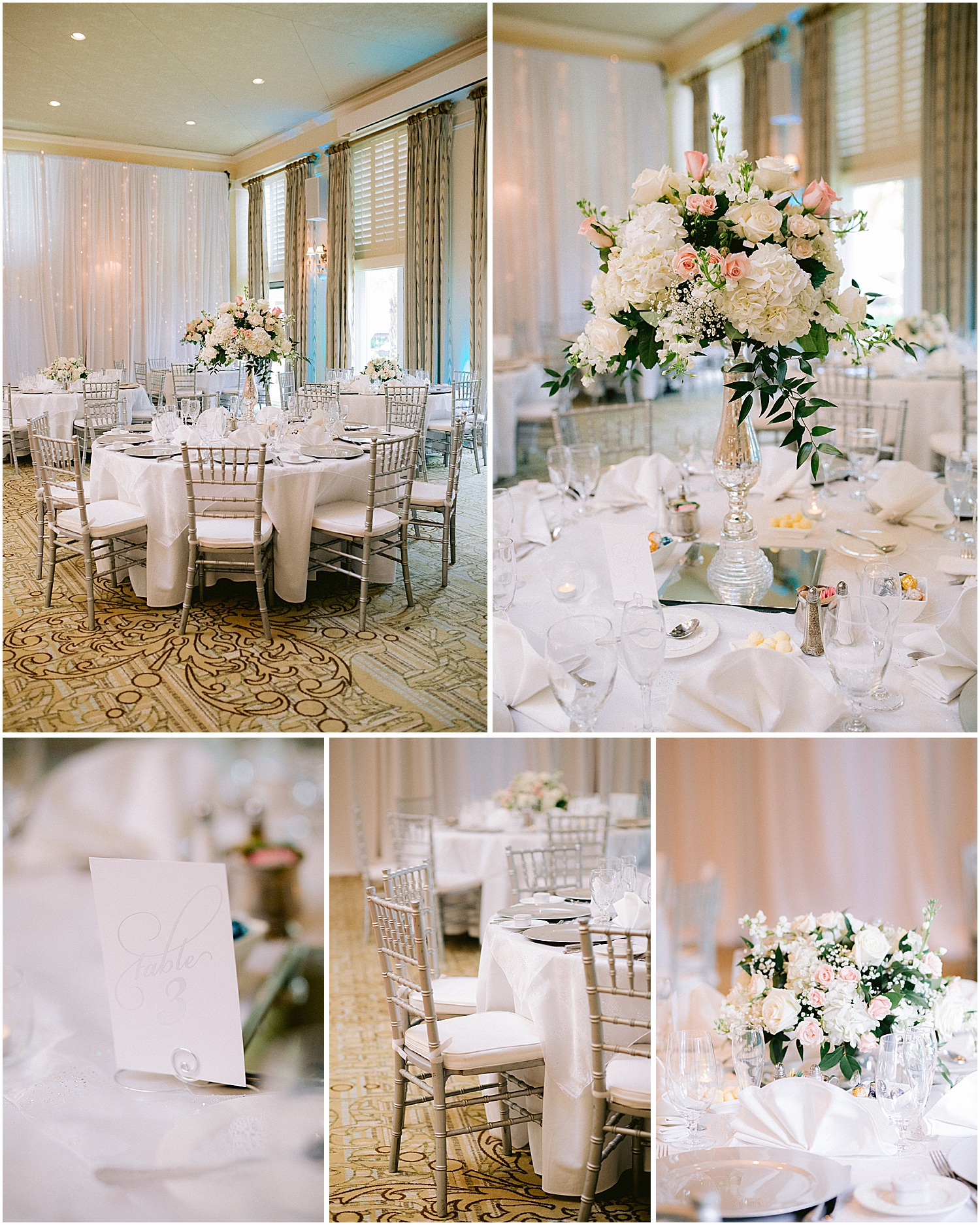 Centerpieces by Harbour Bay Florist at Willoughby Golf Club