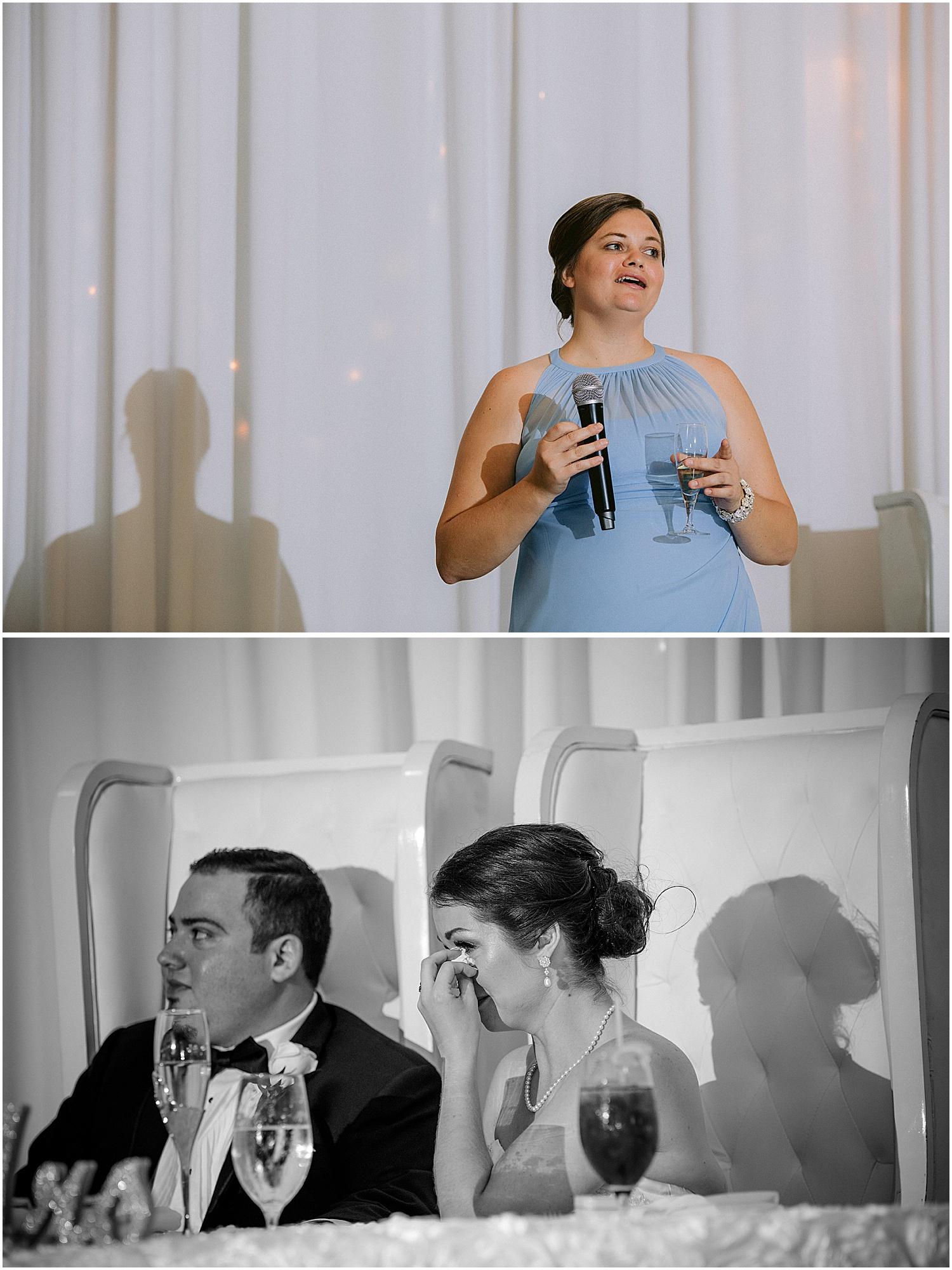 Willoughby Golf Club wedding toasts