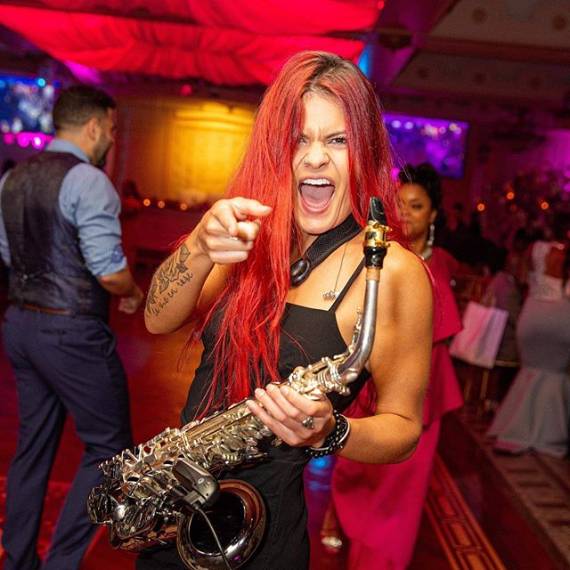 Add some sax to your event!!our very talented Gabi.#floralterrace #sandcastlevenue #carltunonthepark #theknot #twahoteljfk #sax