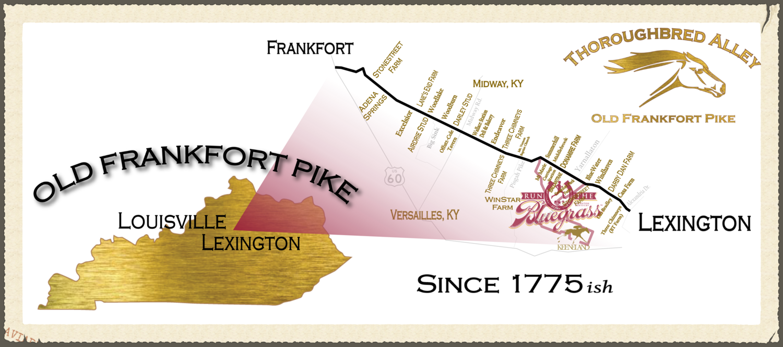 Old Frankfort Pike between Lexington and Frankfort, Kentucky