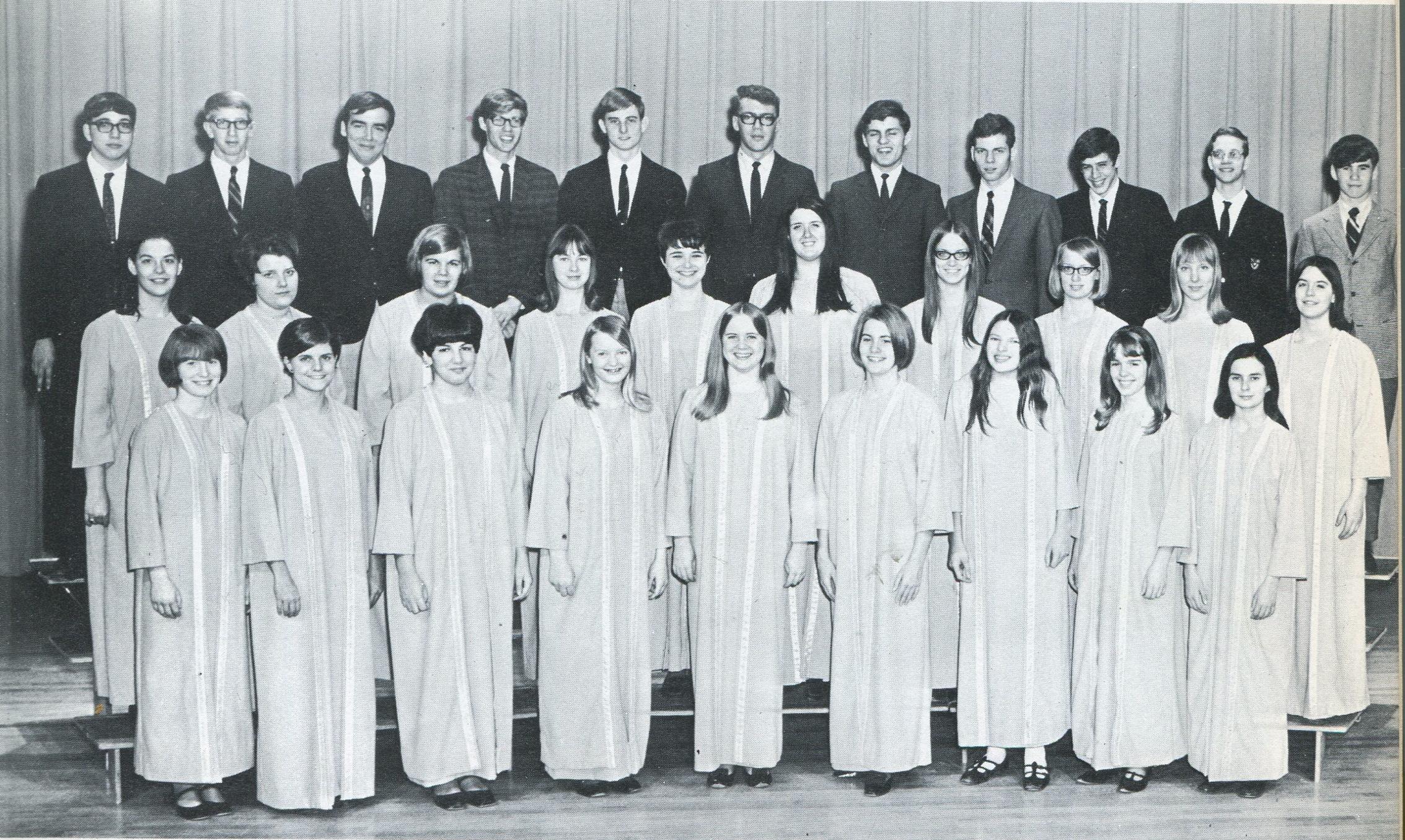Iowa City West High's first Concert Choir, Class of 1968