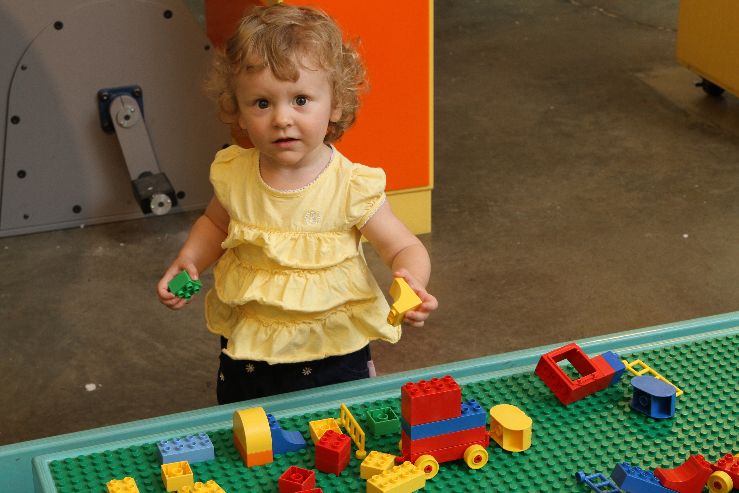 LEGO-DUPLO TABLE  Who doesn't love Legos? Hours of fun can be had with our hundreds of Duplo pieces.   Sponsored by JC & Company