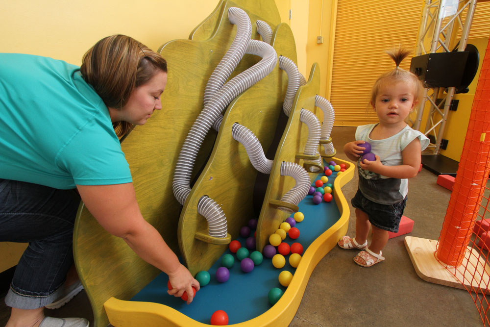 BALL MOUNTAIN  Children love putting the balls down the tubes and watching where they drop. Take turns collecting and sorting the balls too!   Sponsored by Taylor Rental