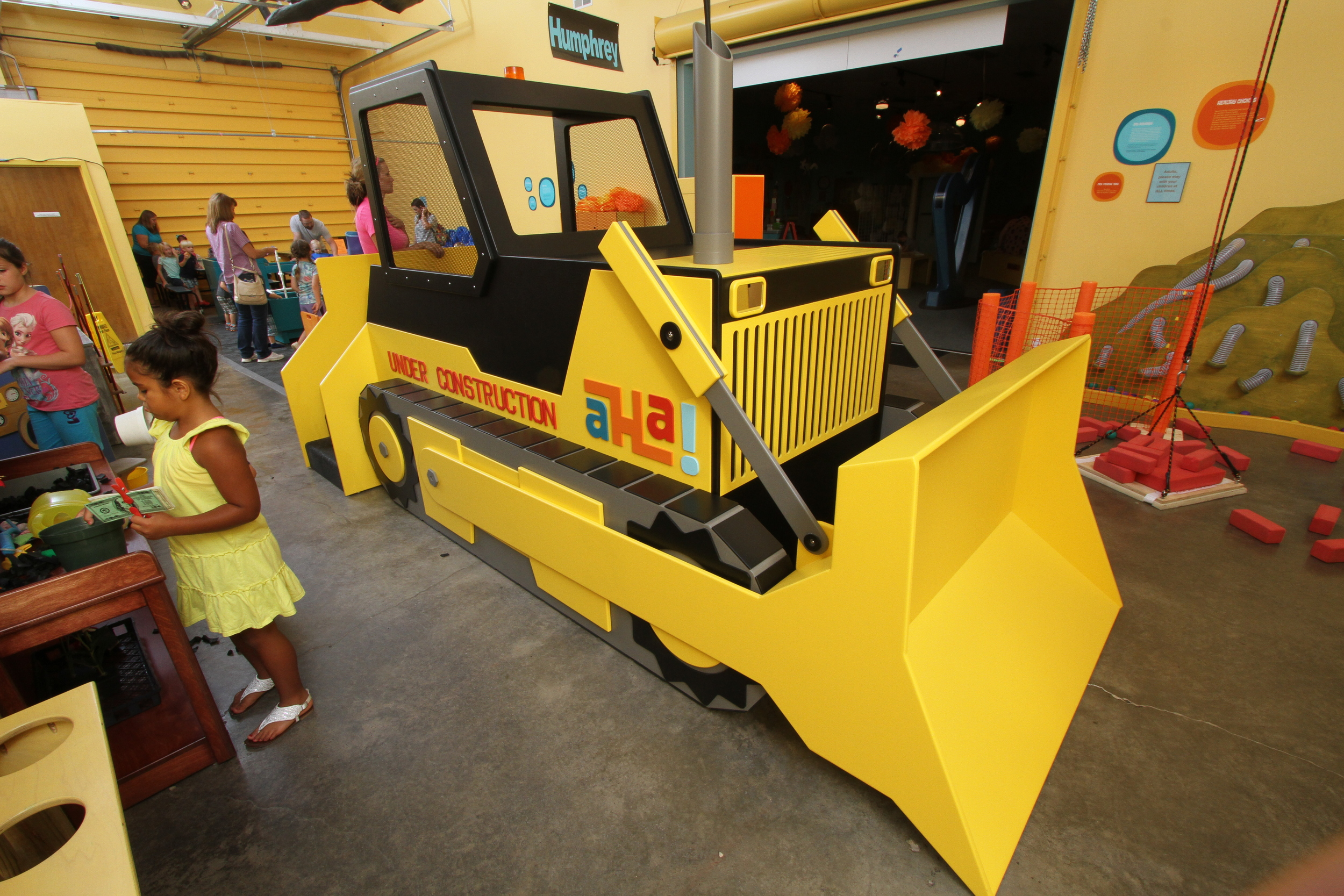 BULLDOZER  Get your safety hat and goggles on. Hop on in and work the controls.   Sponsored by Company Wrench