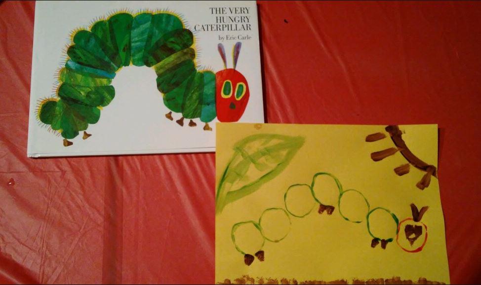 Hungry Little Caterpillar tube art.JPG