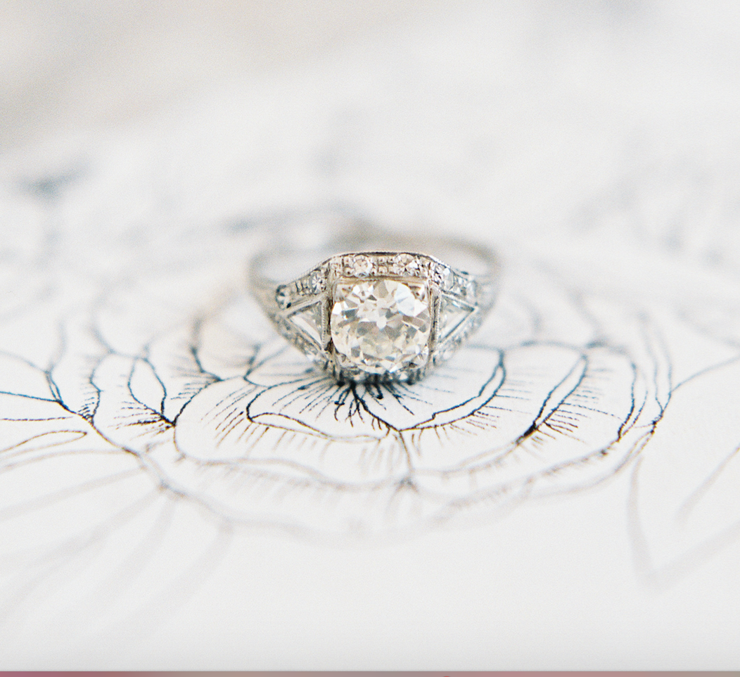 Trumpet and Horn's vintage engagement ring | follow along on Instagram @ thewildflowers.events