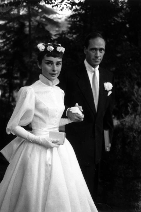 Wildflower Audrey Hepburn embraced flower crowns at her 1954 wedding | follow along on Instagram @ thewildflowers.events