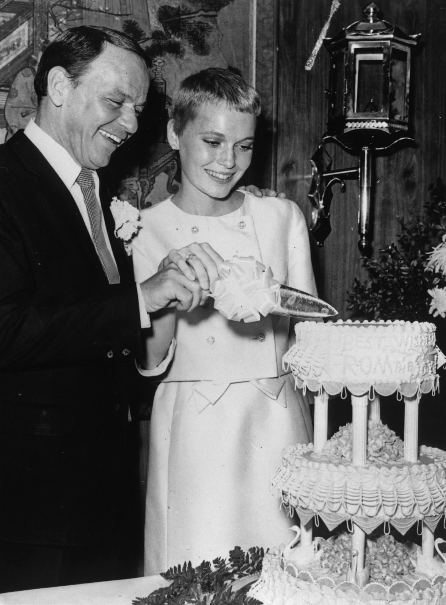Mia Farrow and Frank Sinatra's 1966 wedding | follow along on Instagram @ thewildflowers.events