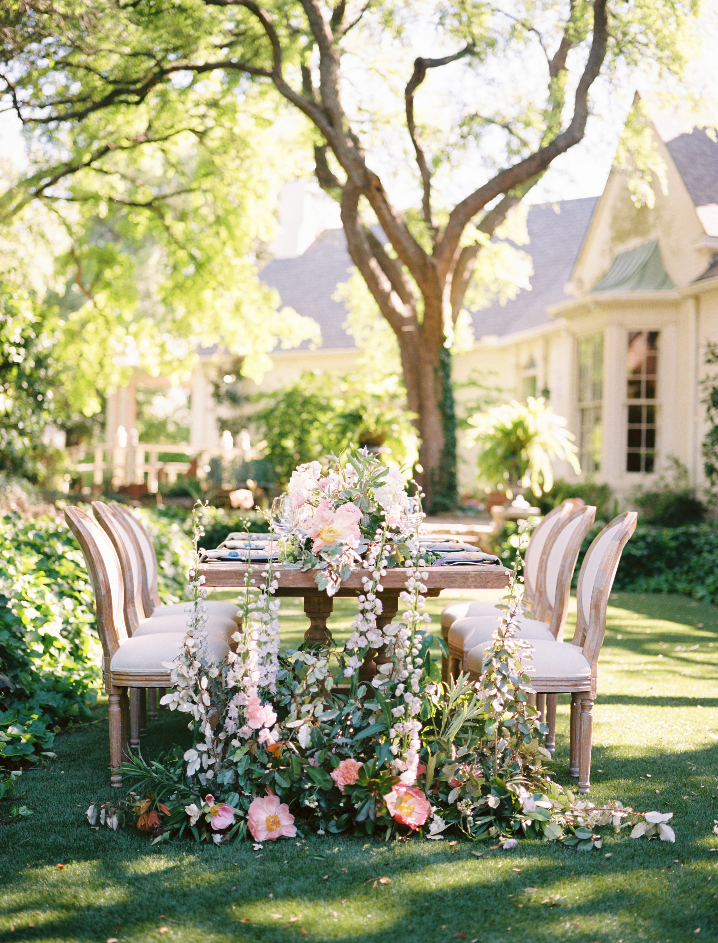 Elegant bohemian garden wedding inspiration featured in   Green Wedding Shoes