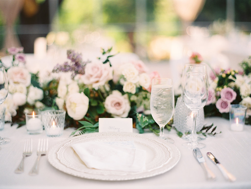 Southern elegant wedding featured in   D Weddings magazine
