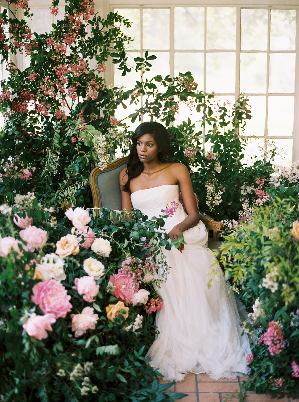 Growing garden wedding inspiration featured in   Style Me Pretty