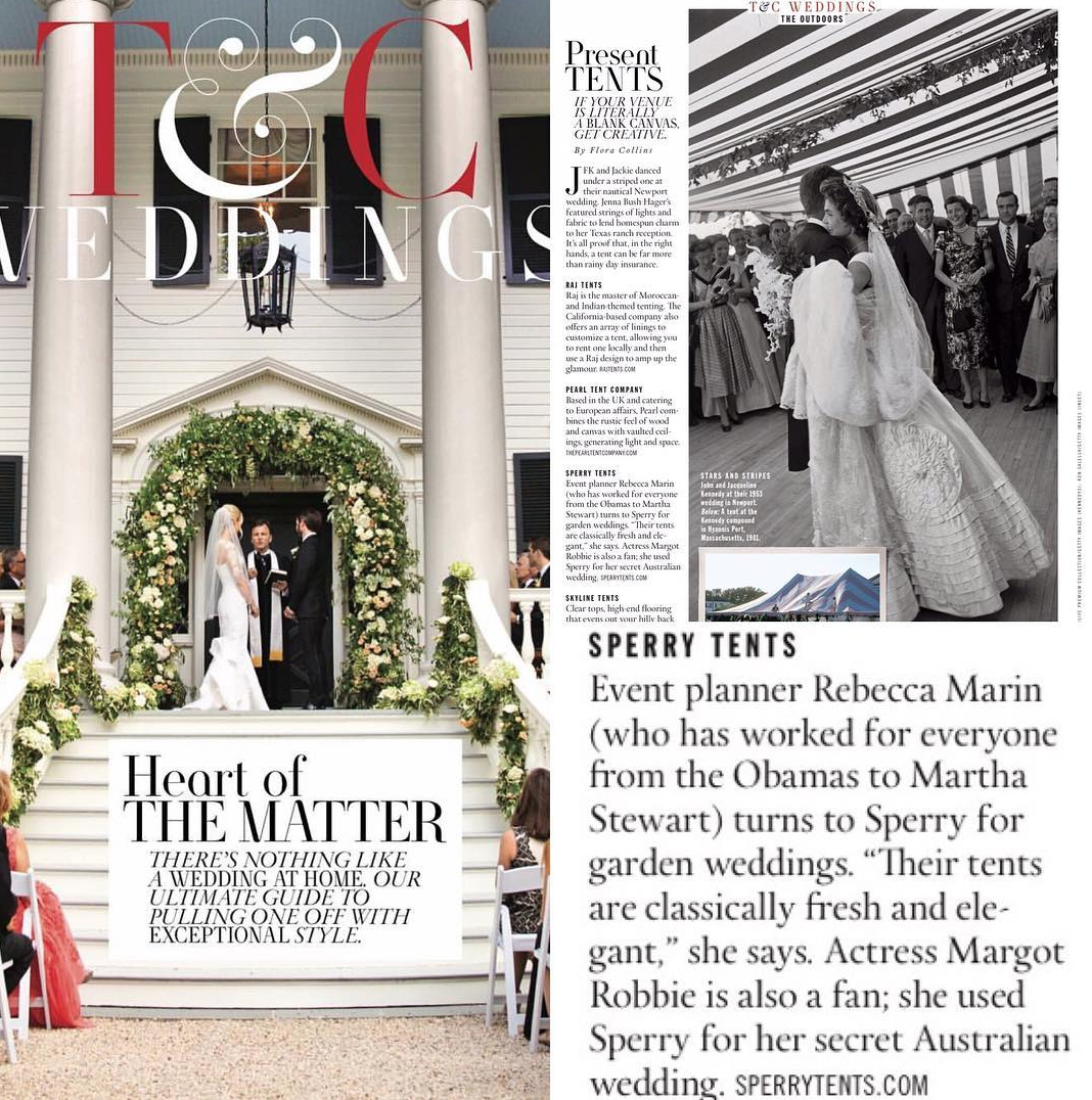 The Wildflowers featured in April 2017 issue of  Town & Country Magazine
