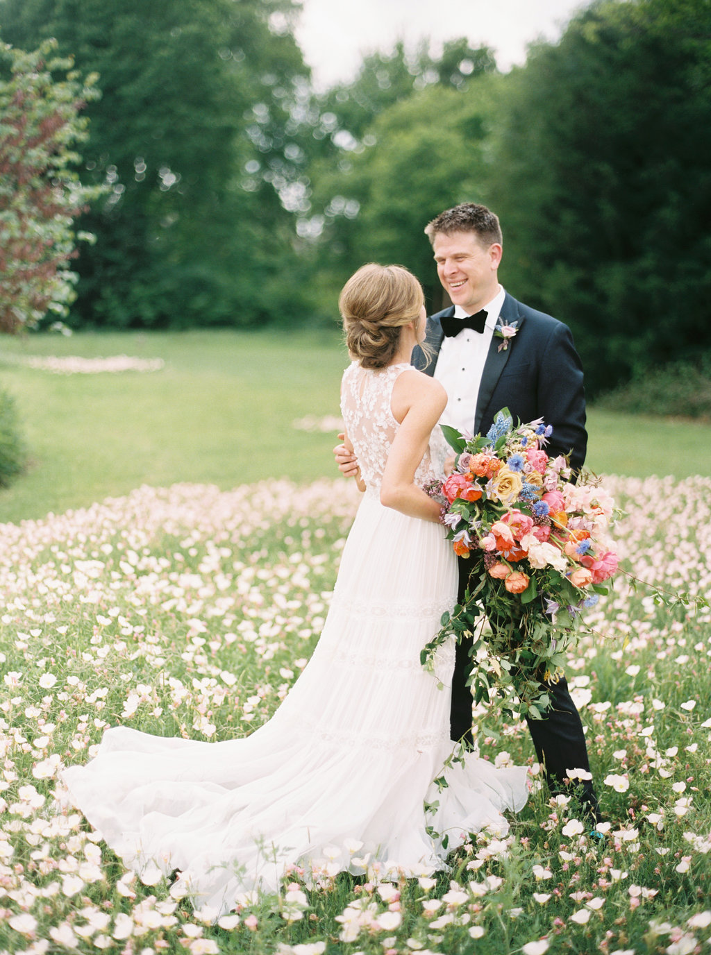 Colorful Farm-to-Table wedding featured in   Martha Stewart Weddings