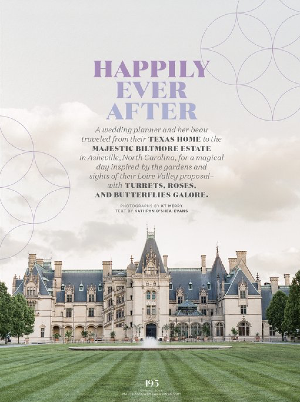 Clay and Rebecca of The Wildflowers' Wedding in   Martha Stewart Weddings     Spring Issue 2018