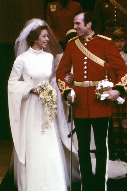 Princess Anne and Captain Mark Phillips wedding