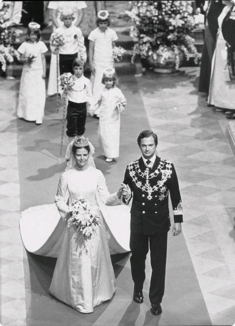 King Carl XVI Gustaf of Sweden and Silvia Sommerlath wedding