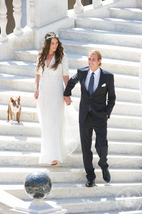 PrinceAndrea Casiraghi andTatiana Santo Domingo of Monaco wedding