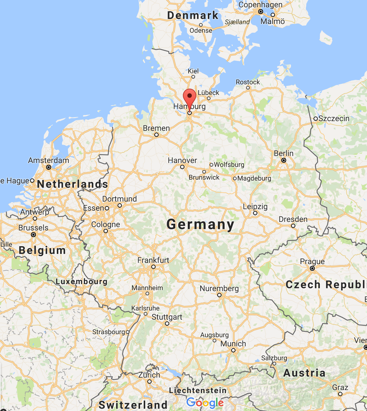 For those who don't know, Hamburg is located HERE: