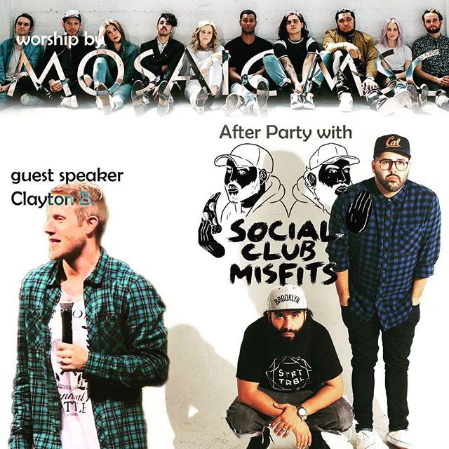 Who's coming tonight?! 🙋♂️🙋♀️ It's gonna be 🔥🔥@mosaicmsc @socialclubmisfits @deathbymartymar @fernie_sc #saturdayvibes #christianmusic #lightthenight @lifeaustinamp @lifeaustintx
