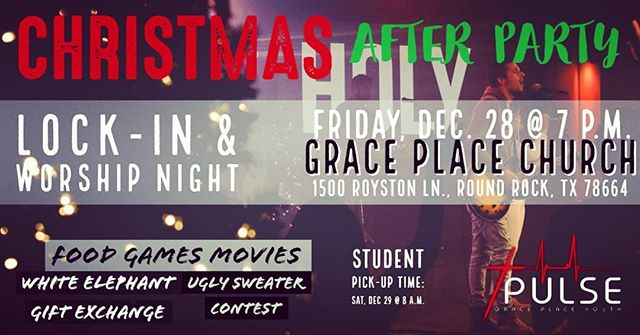 🔴 Calling ALL 6th - 12th graders 🔴 Come celebrate our KING's birth! 👑 Wear your ugliest Christmas 🎄 sweater 🧥 and bring a gift for the White Elephant 🎁🐘 gift exchange.  Live music, food, hot cocoa, games, friends, and most importantly JESUS!  #youthgroup #youthgrouplockin  #christmasparty #asaviorisborn