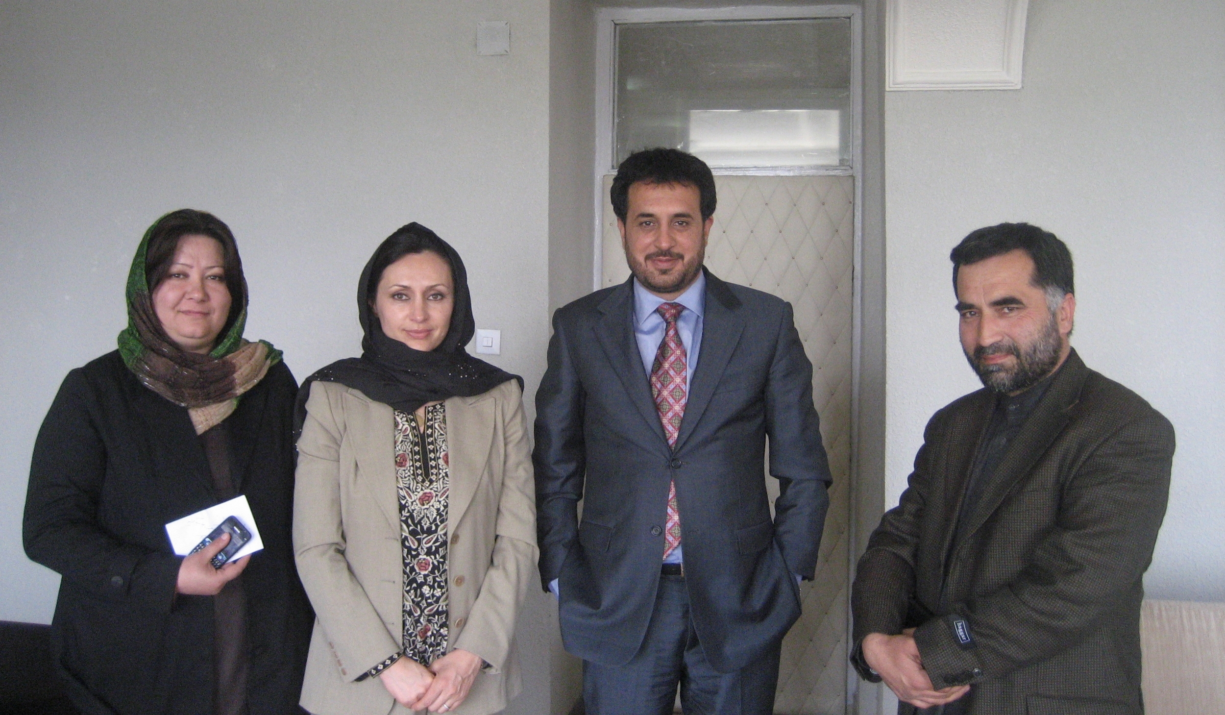 With Minister Khaled—Kabul, Afghanistan