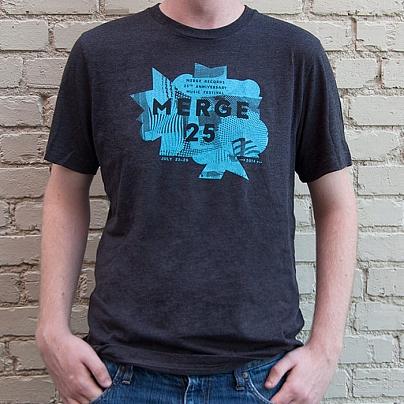 Merge 25 Grey Festival T-shirt