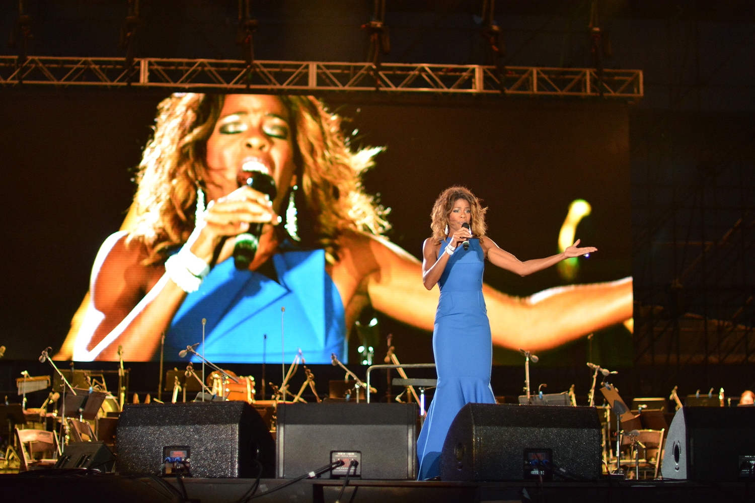 Nicole Henry Sings the National Anthem at Miami Beach 100 Celebration