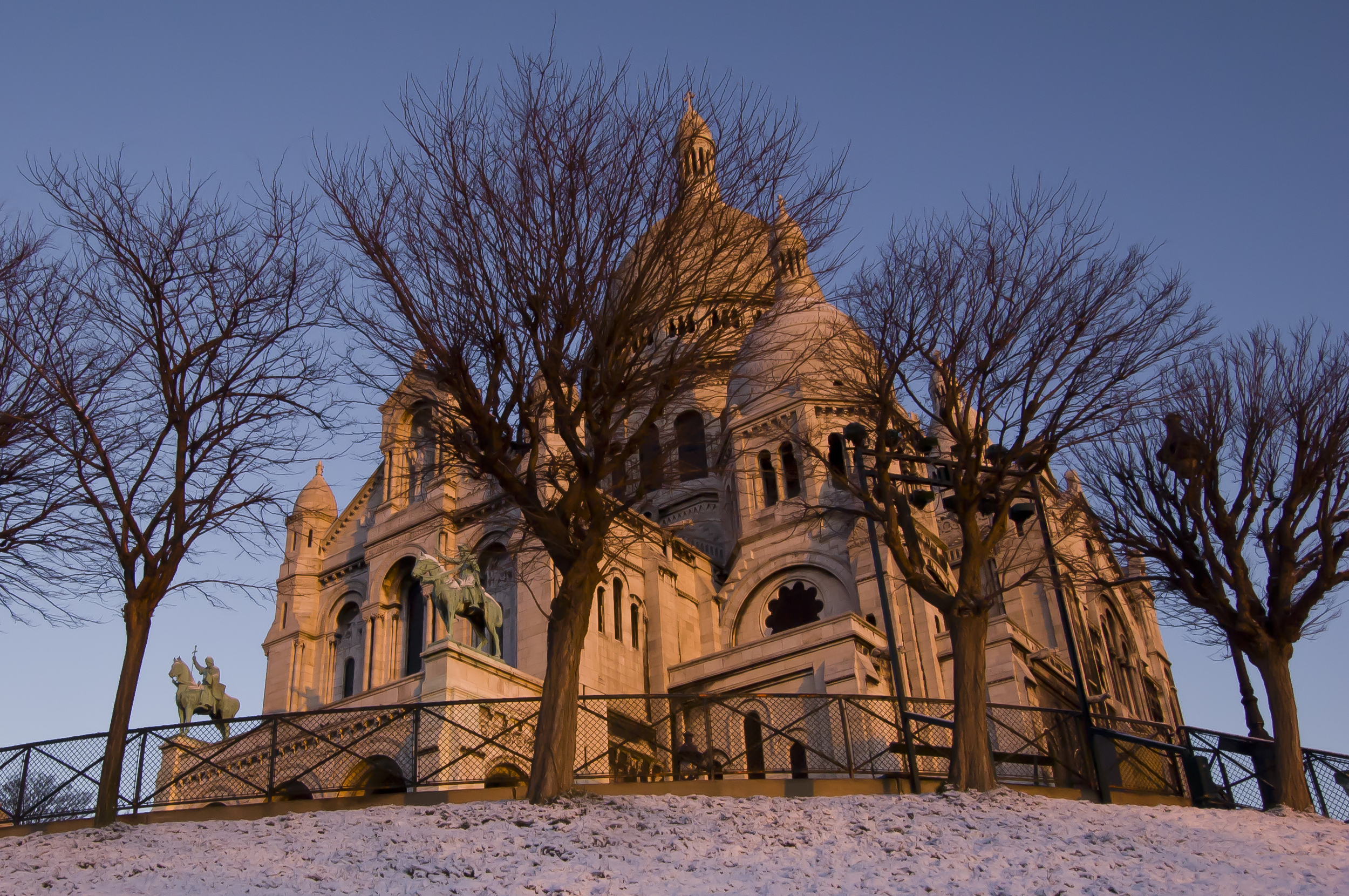 A fresh blanket of snow reflects the morning light as beautifully as my favorite basilica.
