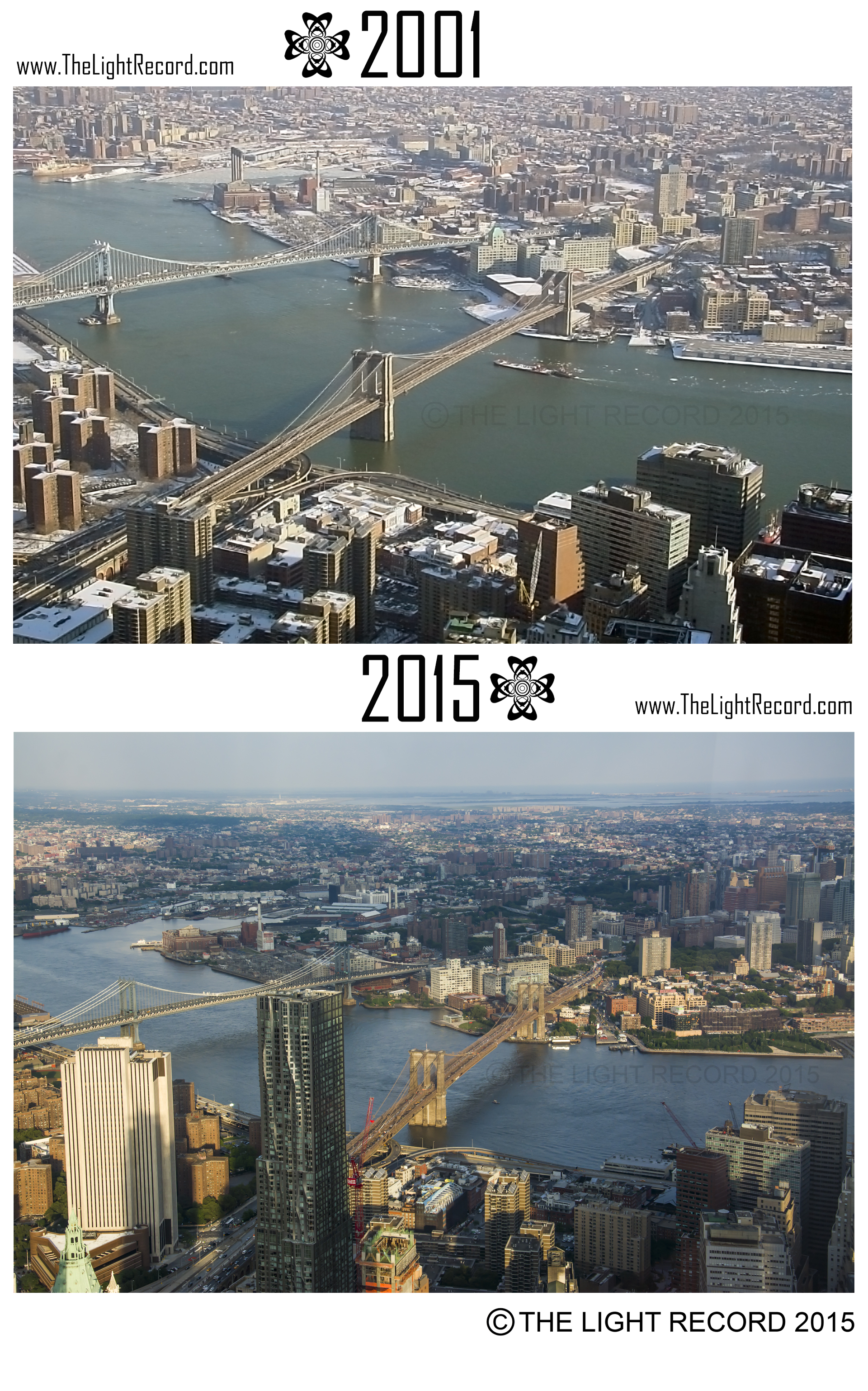 The Brooklyn waterfront along the East River has changed remarkably. In fact, Brooklyn may have undergone the most thorough transformation of all of the 5 boroughs since 9/11. Hipsters cannot recall a time pre-Dumbo.
