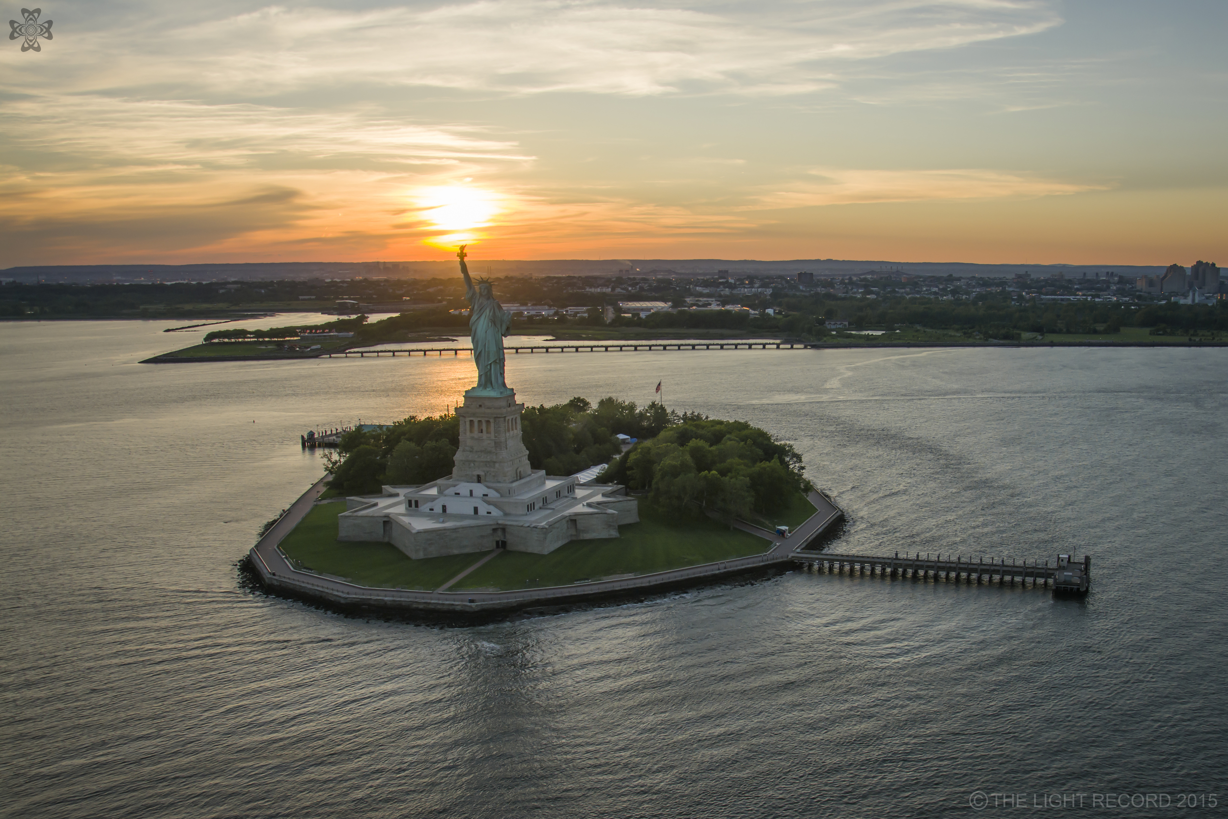 The iconic Statue of Liberty appears to be illuminating the sky above New Jersey. The crown of the statue was closed for nearly 8 years following 9/11 due to safety and security issues. This is as close as I have been since my senior year in high school when I was suspended for drinking Brass Monkey on a field trip.